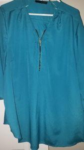 "2xl turquoise ""Harve Bernard"" blouse"